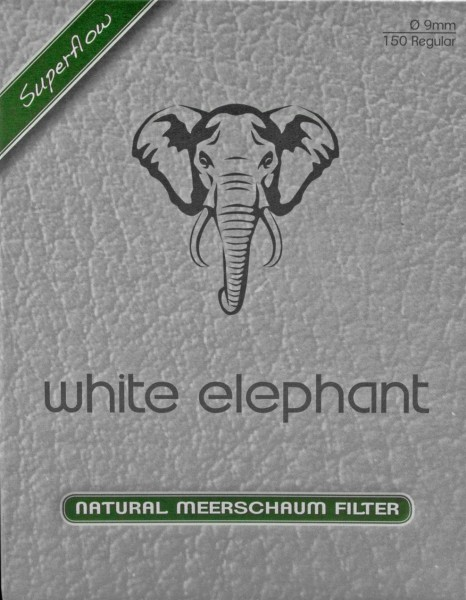 White Elephant Natural Meerschaum 9mm