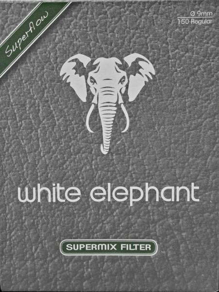 White Elephant Supermix Natur Meerschaum und Aktivkohlefilter Filter 9mm